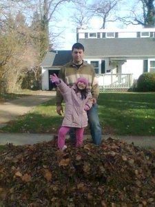 Giant leaf pile